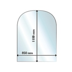 Golvglas 1100x850, rundad