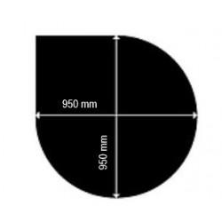 Golvplåt droppformad, 950x950
